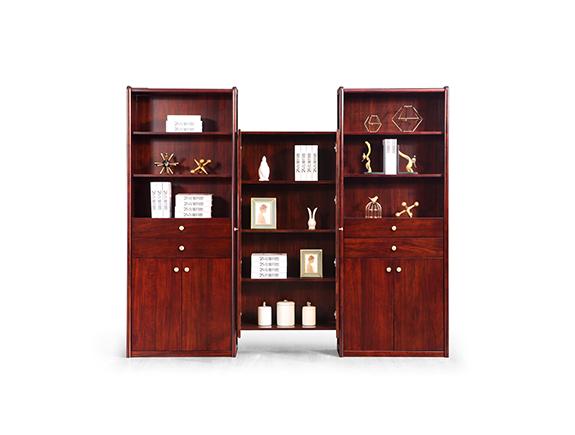 KS209A书柜KS209B书柜康锐家居新中式实木书柜