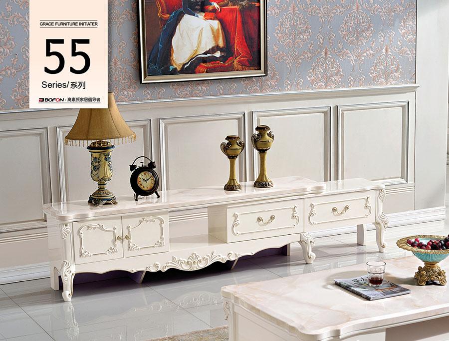 D5501电视柜博峰现代风格实木地柜