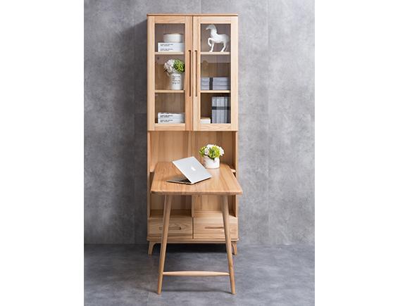 HF-E03书柜HF-E03书台北欧原木北欧风格实木书桌
