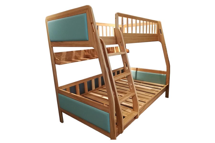 HF-A09北欧原木床北欧风格儿童床上下床子母床