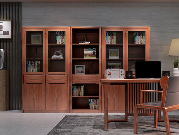8F02海菲书柜北欧风格实木书柜