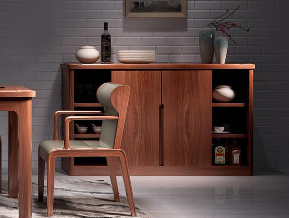 8J02海菲餐边柜北欧风格实木餐边柜餐柜