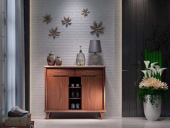 8M01海菲鞋柜北欧风格实木鞋柜