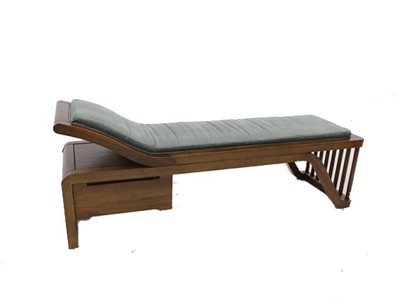 8N01海菲床尾凳北欧风格实木床尾凳