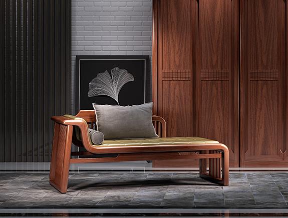8N02海菲躺椅北欧风格实木躺椅贵妃躺椅