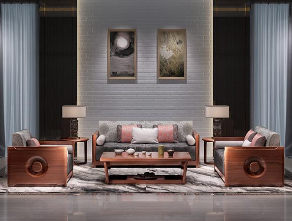 8SF01海菲沙发北欧风格实木沙发单人位三人位贵妃位