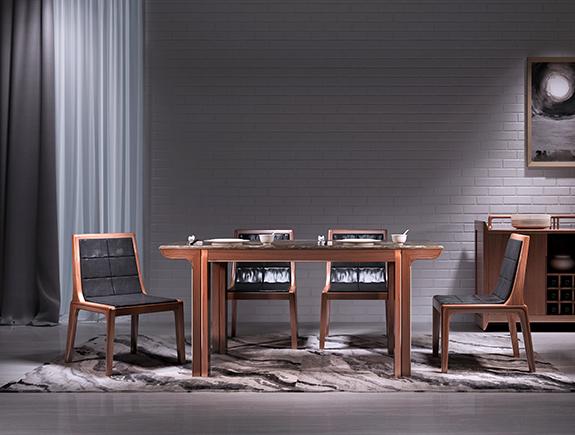 8T01海菲餐台北欧风格实木餐桌