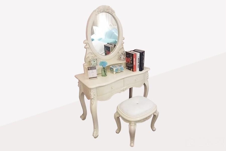 813A欧奢妆台+镜+妆凳欧式风格实木梳妆台
