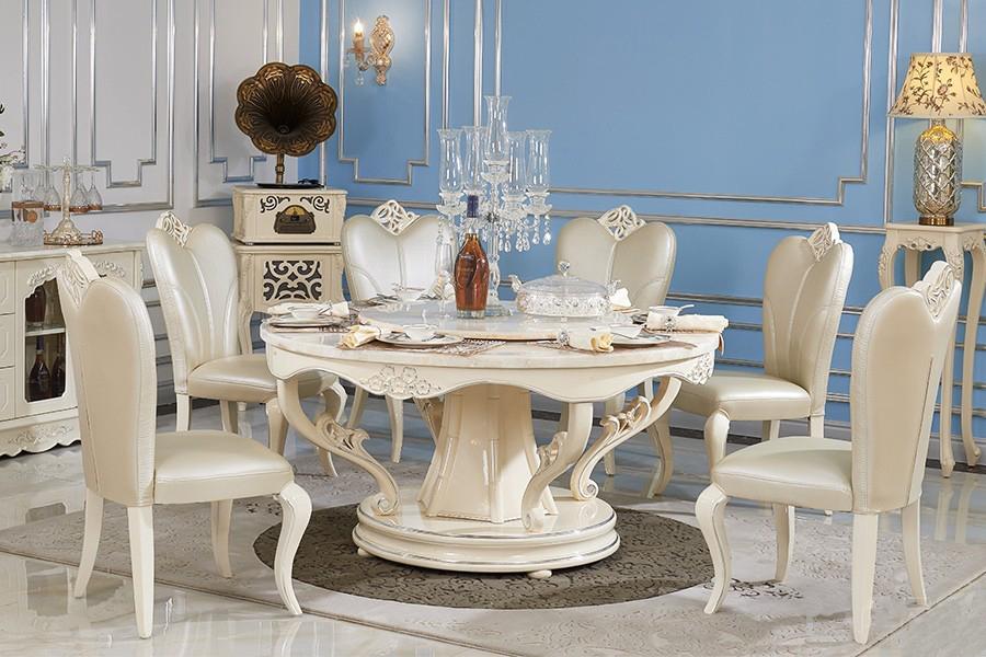 8011餐台603餐椅欧奢餐台餐椅欧式风格实木餐桌椅子