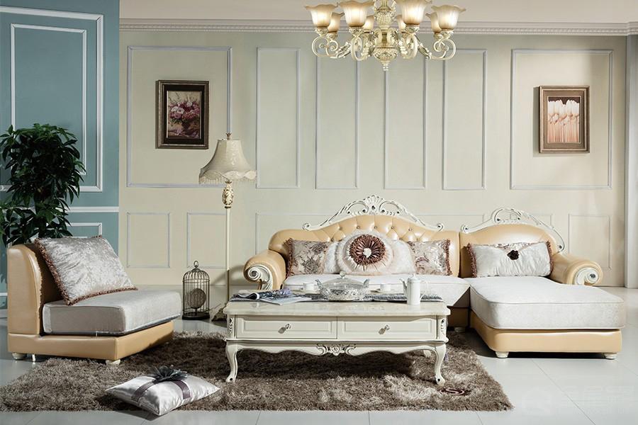 S817欧奢沙发欧式风格真皮沙发单人位三人位贵妃位