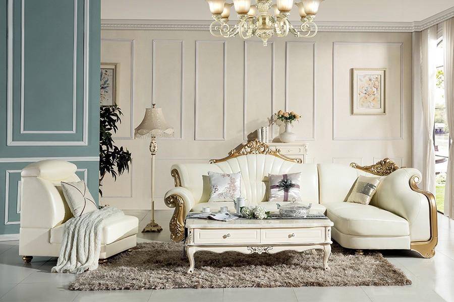 S825欧奢沙发欧式风格真皮沙发单人位三人位贵妃位