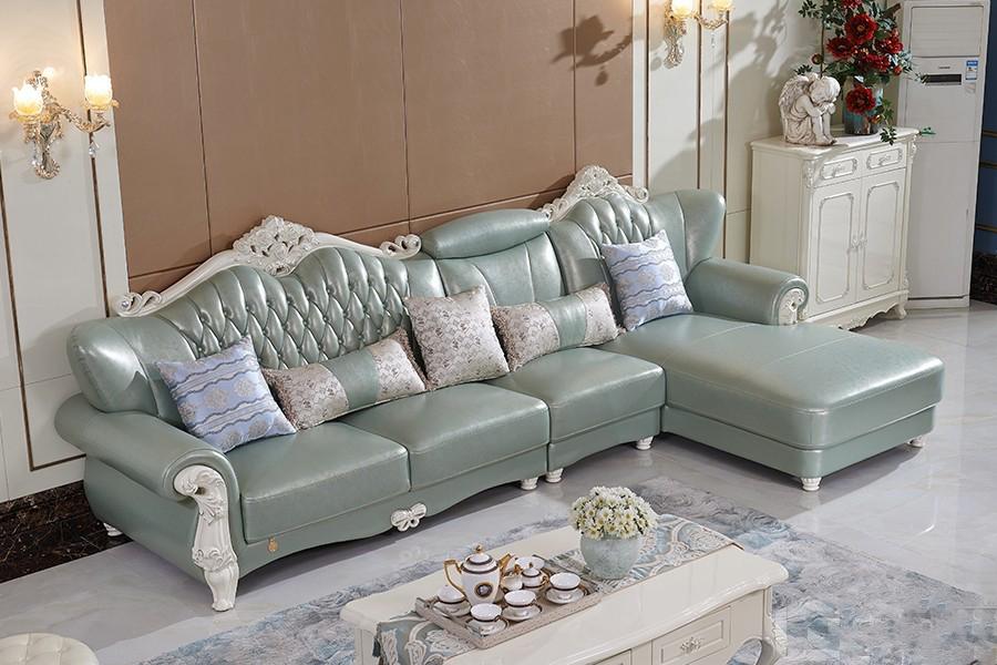 S831欧奢沙发欧式风格真皮沙发单人位三人位贵妃位