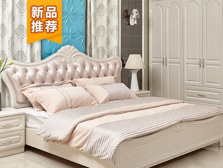 CR05床欧风韩雨简欧风格软包床