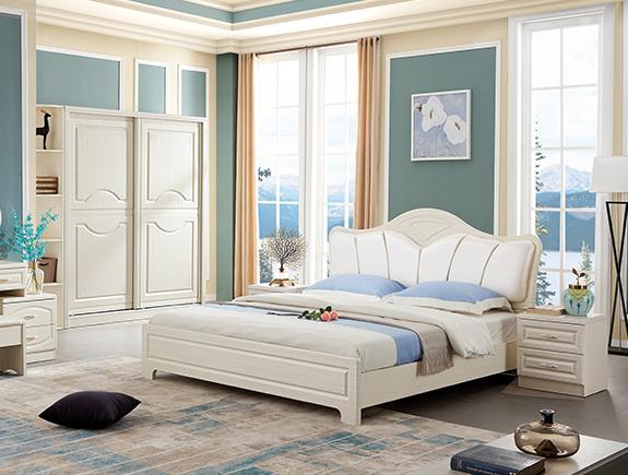 CR01-1.8A森软床简欧风格板式床
