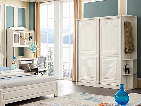 YT150二趟门衣柜A森衣柜简欧风格板式衣柜