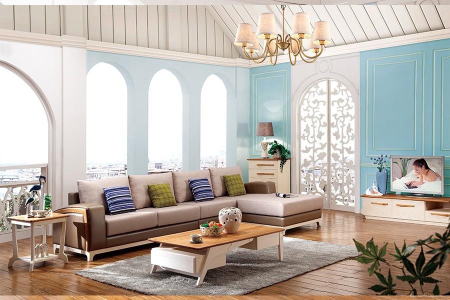 B08沙发克罗地亚地中海风格实木沙发
