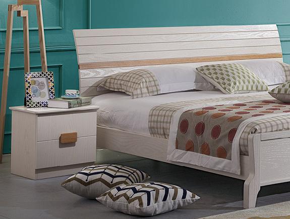 B08床头柜克罗地亚地中海风格实木床头柜