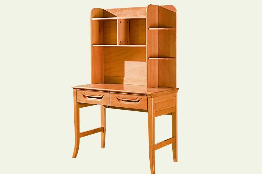 A-3017组合电脑台尚木北欧风格实木书桌