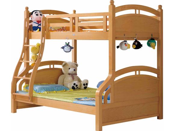 M-17尚木子母床北欧风格实木上下床儿童床双层床