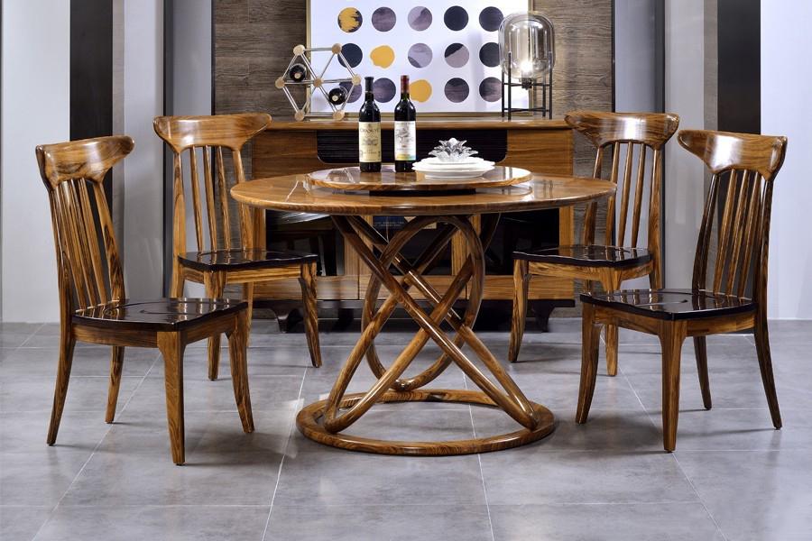 103-TR祥豪源圆餐台103-C餐椅北欧风格实木餐桌椅子