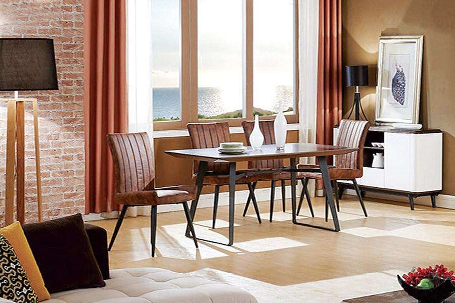 219餐台域祺现代风格橡木餐桌