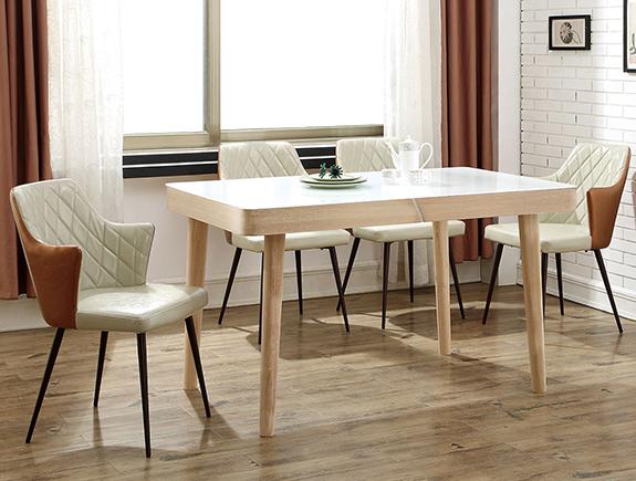 205域祺餐桌北欧风格水曲柳餐台
