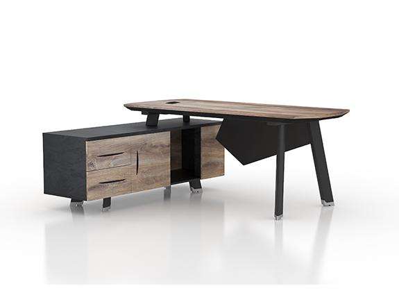 7067.1284左+7067.1285右-NW001班台胶板系列高管台办公桌