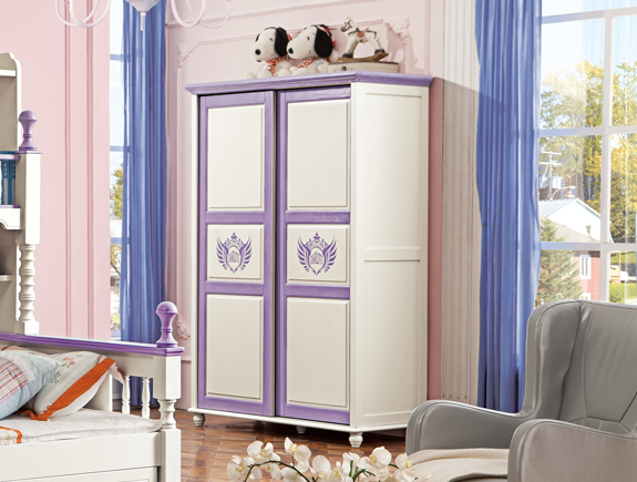 803夏洛特衣柜地中海风格实木衣柜趟门衣柜