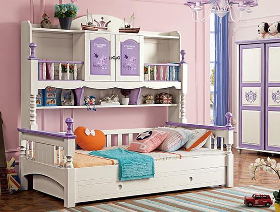 816夏洛特衣柜床地中海风格实木床儿童床