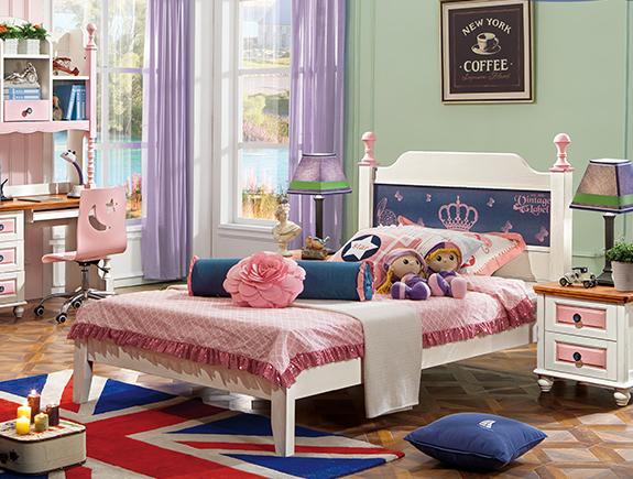 817夏洛特床地中海风格实木床儿童床